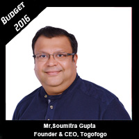Post Budget Expectations From Mr. Soumitra Gupta, CEO, Togofogo