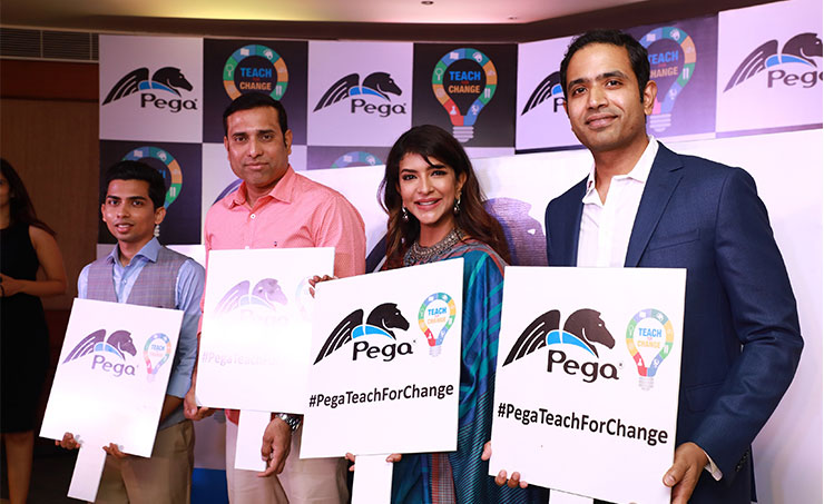 pegasystems inc announced the launch of pega teach for change and unveiled its plans for its largest corporate social responsibility csr program in