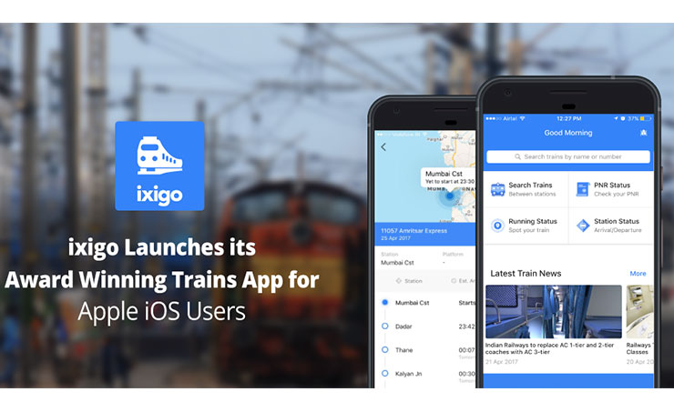 ixigo Rolls out Trains App for Apple iOS Users