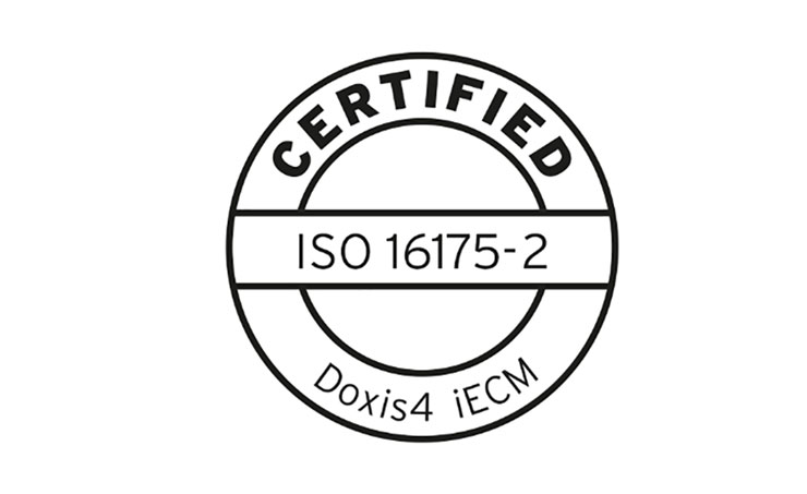 The SER Groupis pleased to announce that the Doxis4 iECM suite has been  successfully certified according to the international standard ISO 16175-2  ...