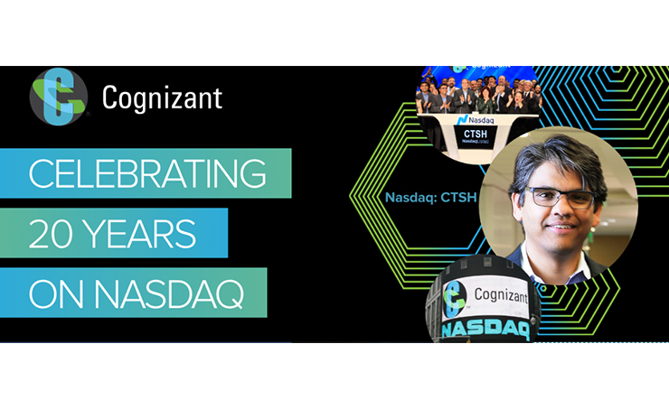 Cognizant Celebrates 20 Years as Nasdaq-Listed Company