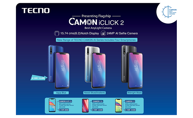 TECNO Launches CAMON Iclick2 Smartphone in India with 24 MP