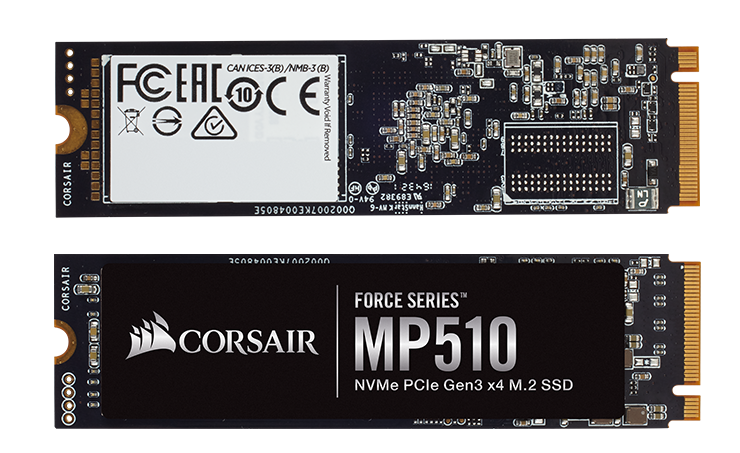 CORSAIR Unveils Force Series MP510 M 2 PCIe NMVe SSD
