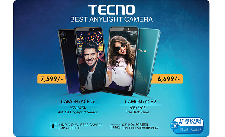TECNO Launches CAMON iACE2x and CAMON iACE2 Smartphones